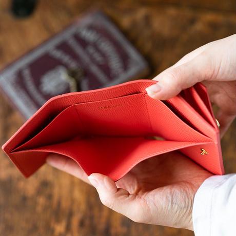 三つ折りコンパクトウォレット オコシ金具タイプ トリヨンクレマンス/ローズジャイプール×ヴォー・エプソン/ローズジャイプール