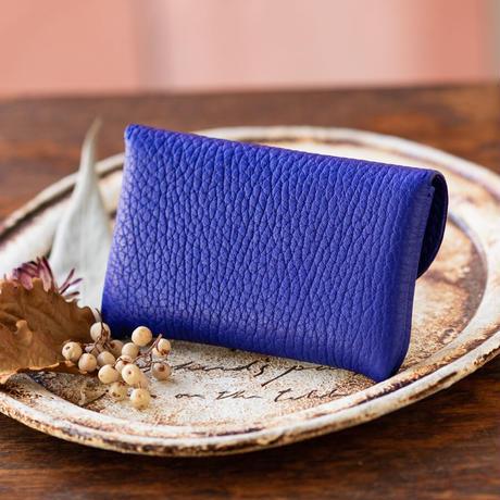 やわらかなレザーフラップ mini財布/ ロイヤルブルー