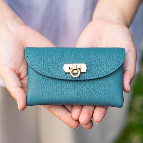【即納】やわらかなレザーフラップミドル財布 トリヨンクレマンス/レザン