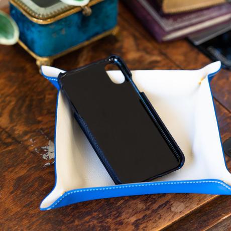 iPhone X ウォレットバックカバー ブルーニュイ