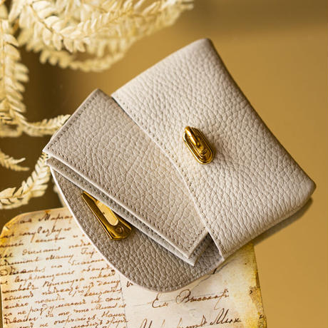 【即納】やわらかなレザーフラップ mini財布 トリヨンクレマンス/クレ