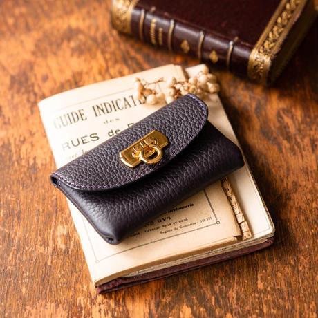 【即納】やわらかなレザーフラップ mini財布 トリヨンクレマンス/レザン