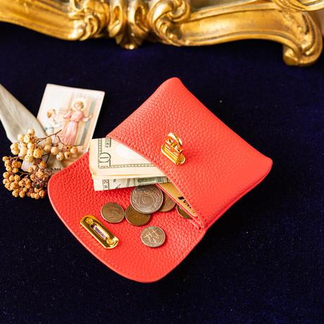 やわらかなレザーフラップミドル財布 トリヨンクレマンス/ローズジャイプール
