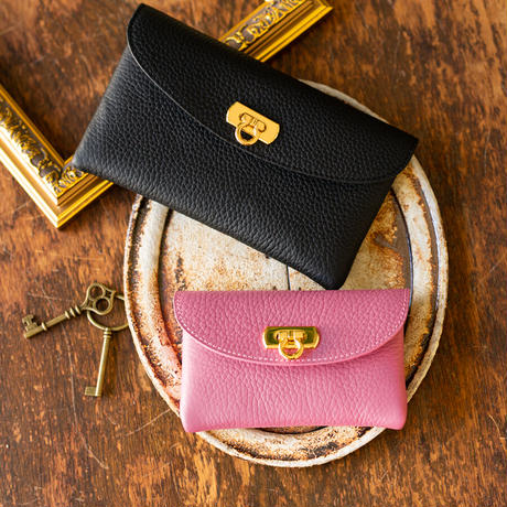 【即納】やわらかなレザーフラップミドル財布 トリヨンクレマンス/リラ