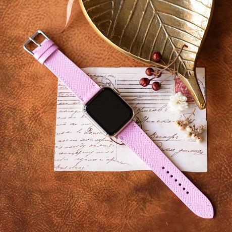 Apple Watch レザーベルト(44MM/40MM) ヴォー・エプソン/モーヴシルヴェスティンxヴォー・スイフト/ローズサクラ