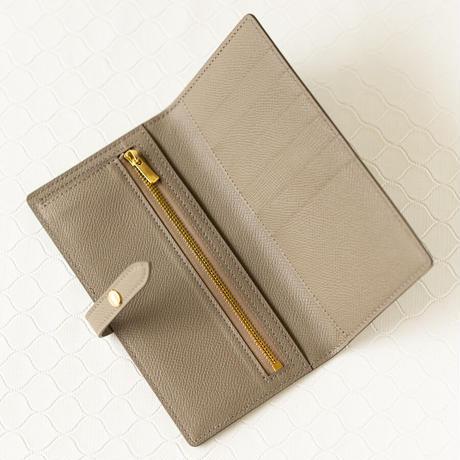 薄型長財布ベルトつき ヴォー・エプソン/エタン×グリアスファルト