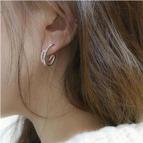 Double ring pierce (P20-AW006)