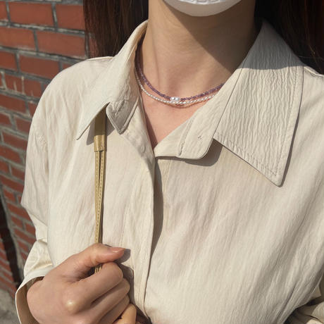 'hand made'  milky necklace