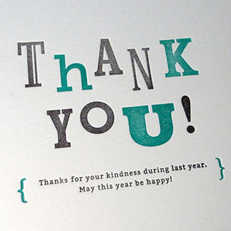 Message Card #03 : THANK YOU!