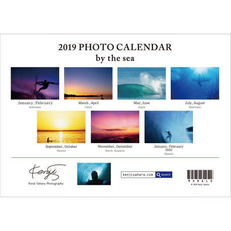 2019 PHOTO CALENDAR  『by the sea』PC2019-1