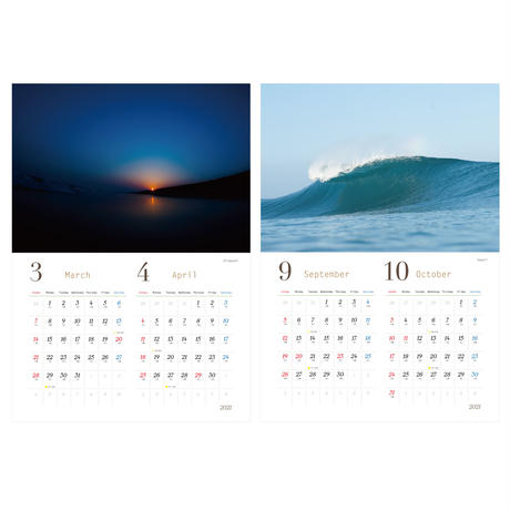 2021 PHOTO CALENDAR  『by the sea』PC2021-1