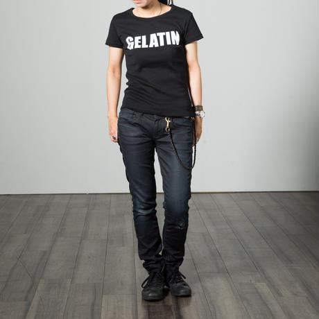 Gelatin シルクスクリーン ロゴT (メンズ&レディス)