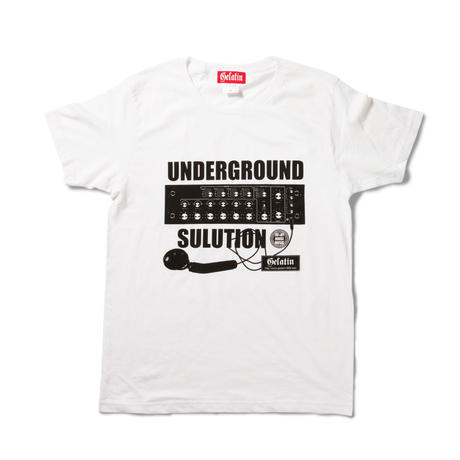 Gelatin シルクスクリーンTシャツ UNDERGROUND SULUTION  (メンズ&レディス)