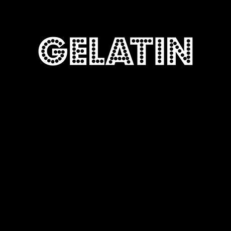 Gelatin シルクスクリーン ロゴT 黒(レディス)