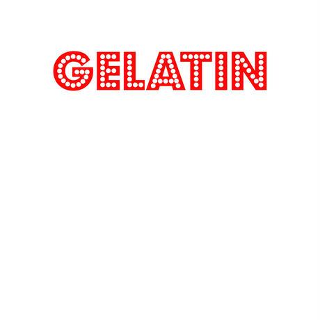 Gelatin シルクスクリーン ロゴT 白(レディス)