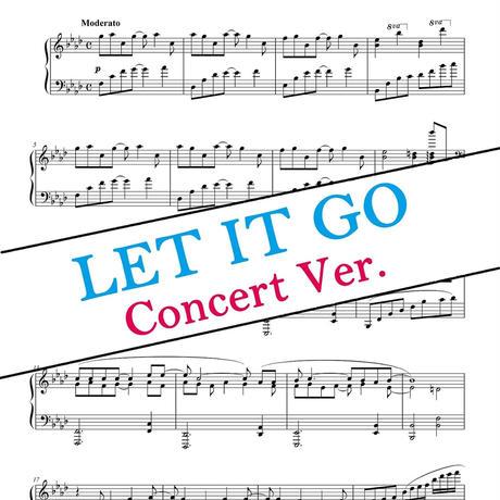 Let It Go ピアノコンサートver. 楽譜(ディズニー『アナと雪の女王』より)