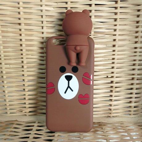 【即出荷】LINEフレンズ ブラウン iPhone6/6s/7 シリコンケース