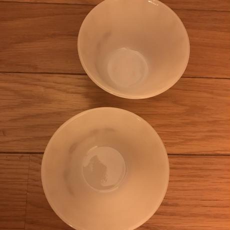 PYR-O-REY ミルクガラスのカスタードカップ 2個セット