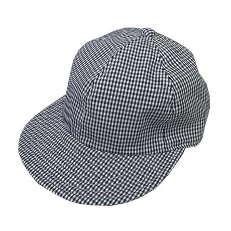 "LOW STRAP CAP ""GINGHAM CHECK NAVY """