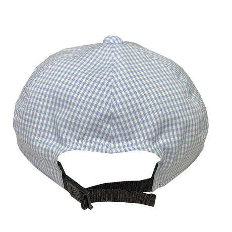 "LOW STRAP CAP ""GINGHAM LIGHT BLUE """