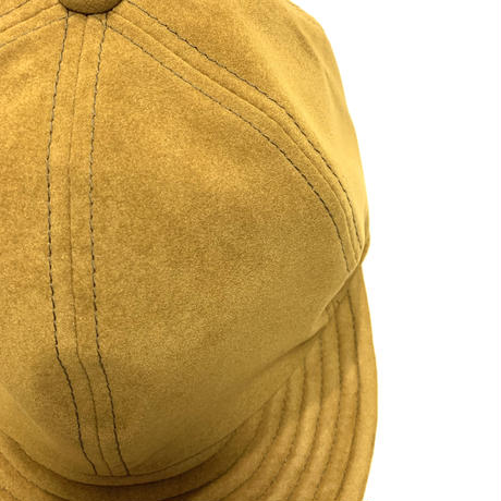 "LOW STRAP CAP "" FAKE SUEDE MUSTARD BROWN """