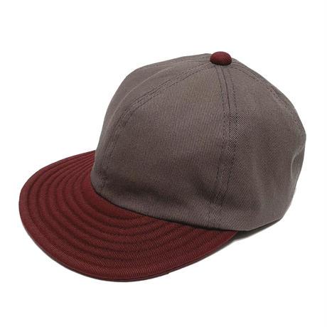 LOW STRAP CAP  -GRAY x BURGUNDY-