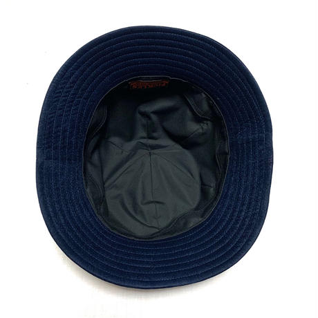 "6P HAT "" FAKE SUEDE NAVY """