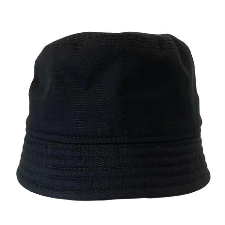 "BUCKET SHORTER HAT ""COTTON TWILL BLACK"""
