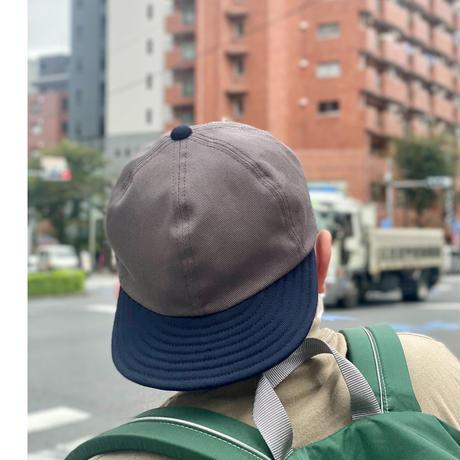 LOW STRAP CAP  -GRAY x NAVY-