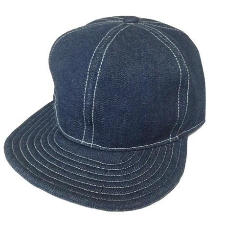 SNAP BACK CAP INDIGO DENIM