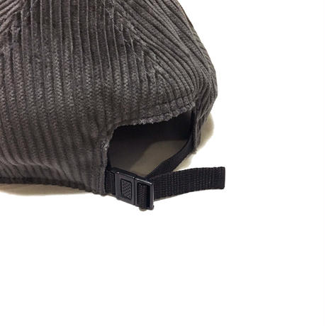 LOW STRAP CAP FAT CORDUROY CHACOAL GRAY