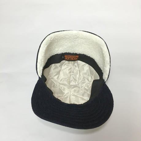 BOA CAP CORDUROY NAVY×OFF WHITE
