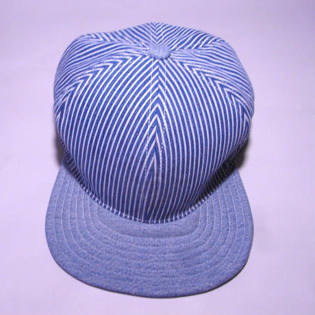 SNAP BACK CAP ONE OFF USED HICKORY×DENIM