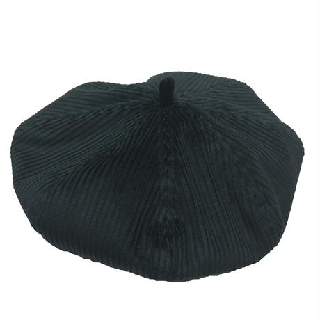 BERET FAT CORDUROY BLACK