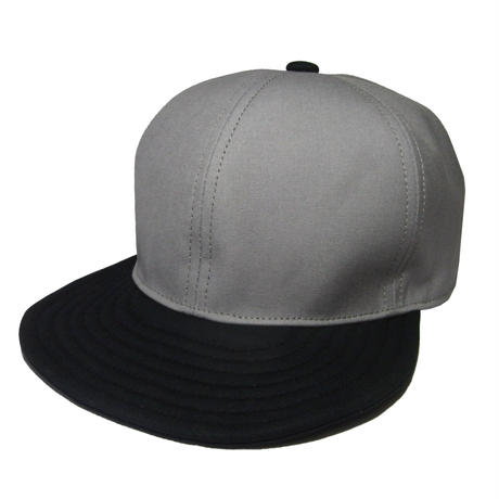 SNAP BACK CAP  GRAY×BLACK