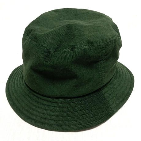 "BUCKET HAT  ""CORDUROY MOSS GREEN"""