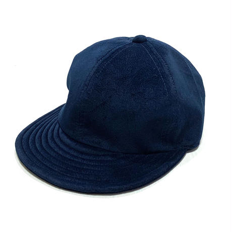 "LOW STRAP CAP "" FAKE SUEDE NAVY """