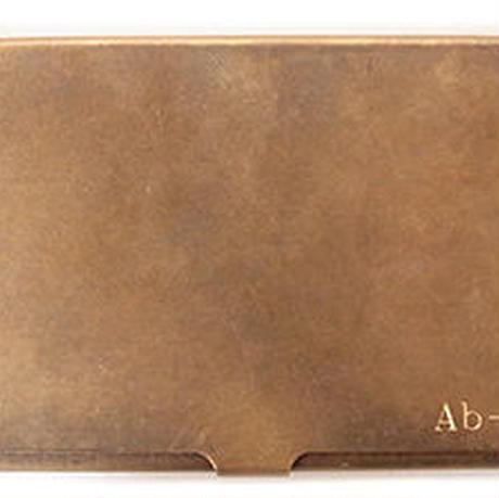 彫刻名入れ10~15文字(BRASS TRAYとBRASS CARDCASEのみ可能)