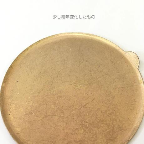 BRASS GRIP CIRCLE PLATE ANTIQUE