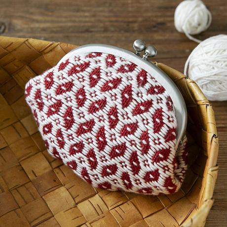 こぎん専用布でつくるがま口  -Cherry- PHC-065-1