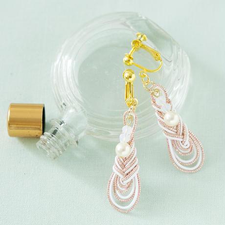 kelly みょうが結びのイヤリング  サンセット PHC-048-3