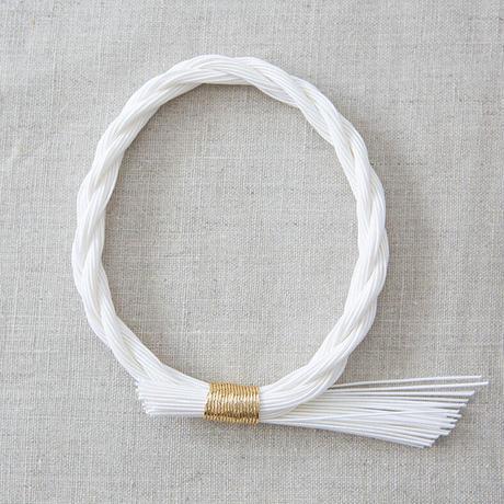 水引しめ飾り(ねじり)白 PHC-071-5