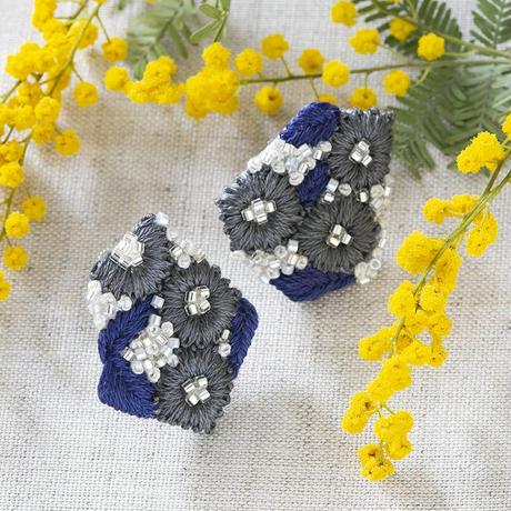 K.omono kakera earrings navy  PHC-085-3