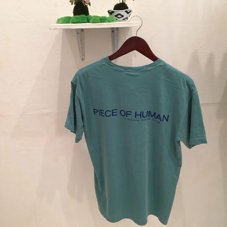 """piece of human"" LOGO wash ""T"" [ SEA/Mid]"