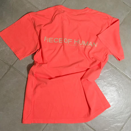 """piece of human"" LOGO wash ""T""[neon.OR/Be]"