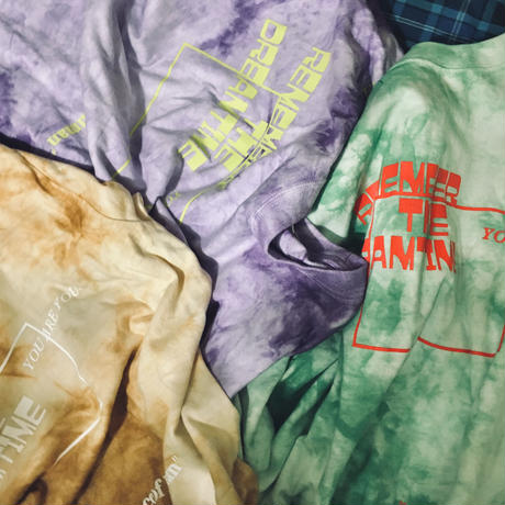 """REMEMBER  THE DREAM  TIME"" tie-dye"" T"""