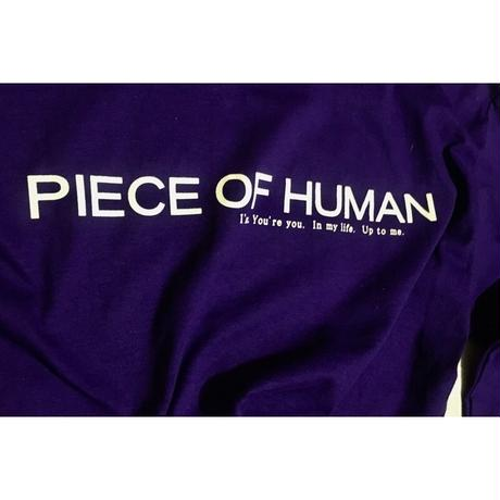 """welcome to the""  piece of  human ""long tee"""