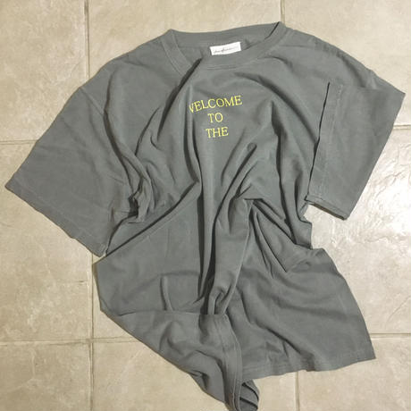 """piece of human"" LOGO wash ""T"" [GR/Le]"