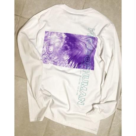 """WORLD WIDE"" long tee /whitebody"