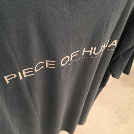 """piece of human""  LOGO wash ""T"" [Jea/Wh]"